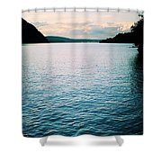 A Hudson River View Shower Curtain