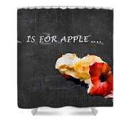 A Is For Apple Shower Curtain