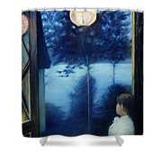 A Japanese Lantern Shower Curtain