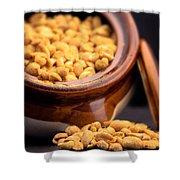 A Jar Of Peanuts Shower Curtain