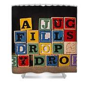A Jug Fills Drop By Drop Shower Curtain