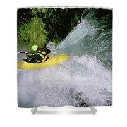 A Kayaker Running A Beautiful Spirit Shower Curtain