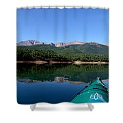 A Kayaking Calm Shower Curtain