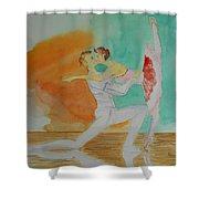 A Kiss In Ballet  Shower Curtain