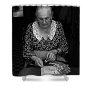 A Lacemaker In Bruges Shower Curtain