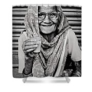 A Lady And Her Chai IIi Shower Curtain