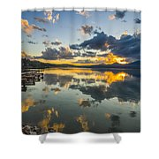 A Lake Pend Oreille Sunset  -  120601a-040 Shower Curtain