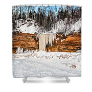 A Land Of Snow And Ice Shower Curtain