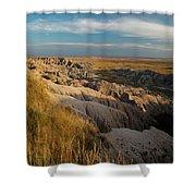 A Landscape Image Of Badlands National Shower Curtain