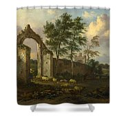 A Landscape With A Ruined Archway Shower Curtain