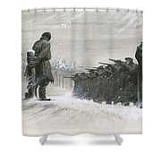 A Last Minute Reprieve Saved Fyodor Dostoievski From The Firing Squad Shower Curtain