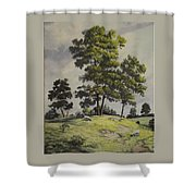 A Lazy Day For Grazing Shower Curtain