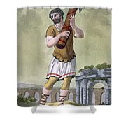 A Lictor, Bearer Of The Fasces Shower Curtain