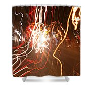 A Light Dance In Old Town Shower Curtain