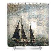 A Light Through The Storm - Sailing Shower Curtain