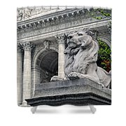 A Lion Called Fortitude Shower Curtain
