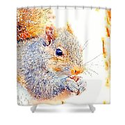 A Little Bit Squirrely Shower Curtain