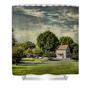 A Little Blue House Shower Curtain