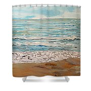 A Little Slice Of Paradise Shower Curtain
