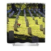 A Lone Remembrance Shower Curtain