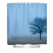 A Lone Tree In The Fog Shower Curtain