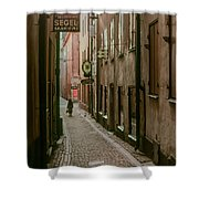 A Lonely Walk Home Shower Curtain