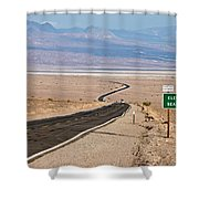 A Long Road Through Death Valley Shower Curtain