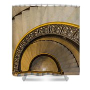 A Look Down The Stairs Shower Curtain