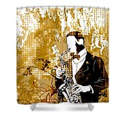 A Love For Sax Shower Curtain