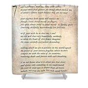 A Love Poem Shower Curtain