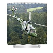 A Lynx Mk 7 Helicopter Shower Curtain