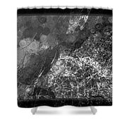 A Magical Face In The Water Abstract Black And White Painting Shower Curtain