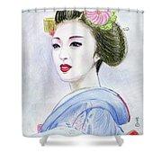 A Maiko  Girl Shower Curtain