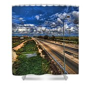 a majestic springtime in Israel Shower Curtain