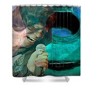 A Man And His Music - James Brown Featured In 'abc Group' And Comfortable Art Group Shower Curtain