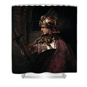 A Man In Armour, 1655 Shower Curtain