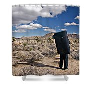 A Man Looks Into The Distance Shower Curtain