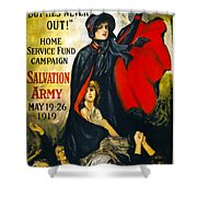 A Man May Be Down . . .   1919 Shower Curtain