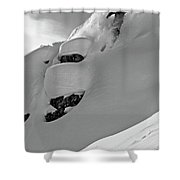 A Man Skiing A Steep Slope In Jackson Shower Curtain