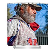 A Man With A Purpose Shower Curtain