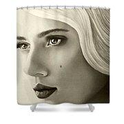 A Mark Of Beauty - Scarlett Johansson Shower Curtain