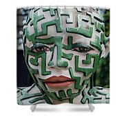 A Maze Ing Man 3 Shower Curtain