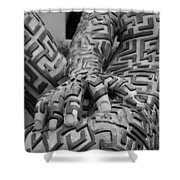 A Maze Ing Man 4 Black And White Shower Curtain