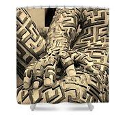 A Maze Ing Man 4 Sepia Shower Curtain