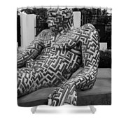 A Maze Ing Man 5 Black And White Shower Curtain