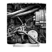 A Mechanic's View Shower Curtain by Jeff Burton