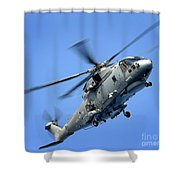 A Merlin Helicopter Shower Curtain