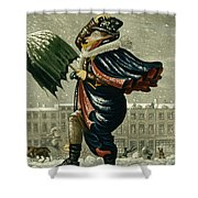 A Merry Christmas And A Happy New Year Shower Curtain