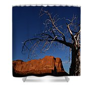 A Mesquite Trees And Buttes Shower Curtain