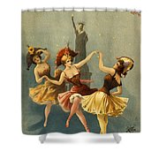 A Midnight Frolic Shower Curtain by Aged Pixel